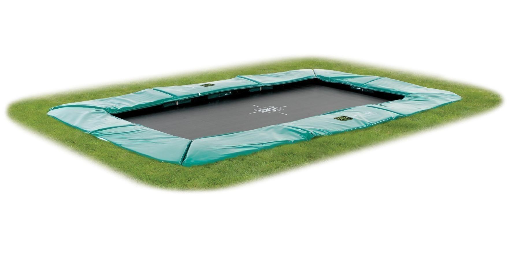 Trampolin EXIT Supreme Ground Level rechteckig 244x427cm grün Bild 1