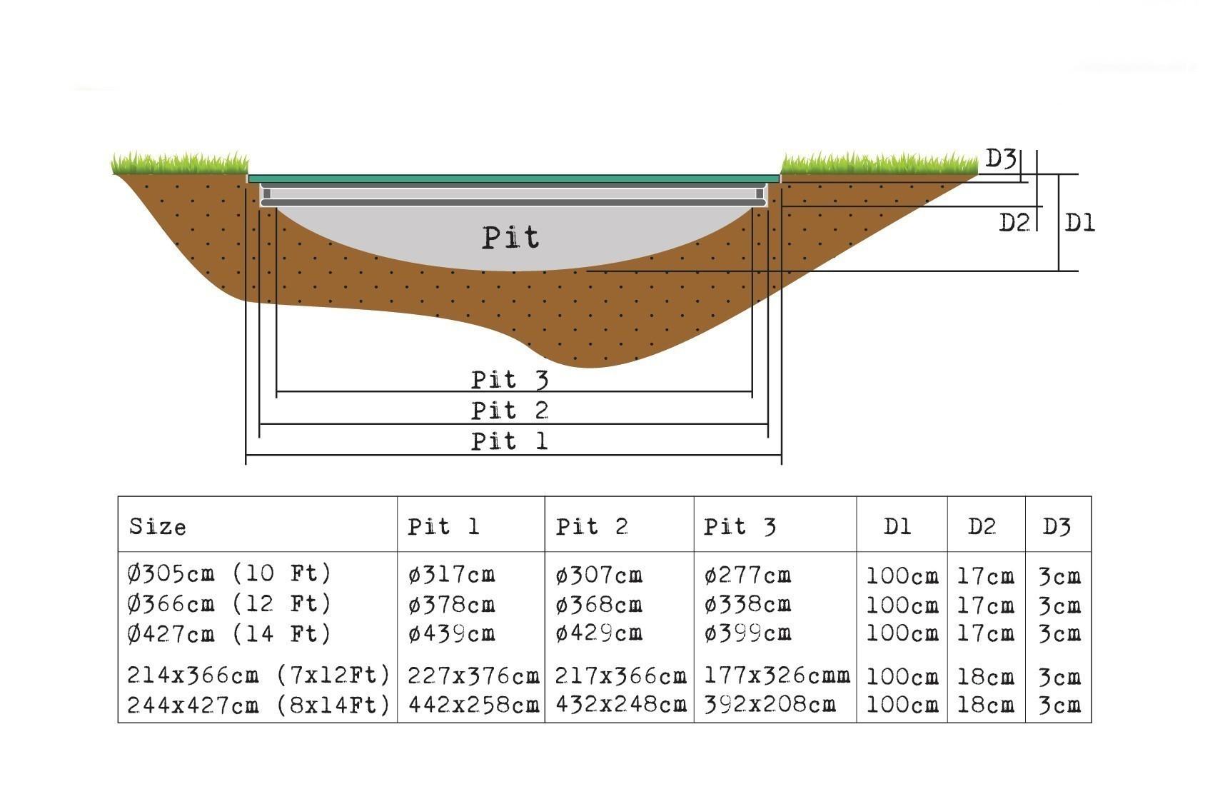 Trampolin EXIT Supreme Ground Level rechteckig 244x427cm grün Bild 4