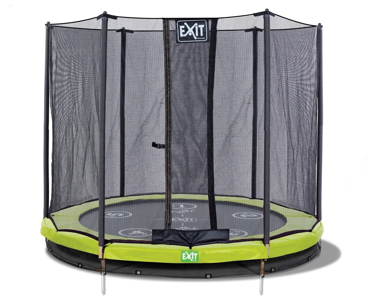 trampolin exit twist ground mit sicherheitsnetz 244 cm. Black Bedroom Furniture Sets. Home Design Ideas
