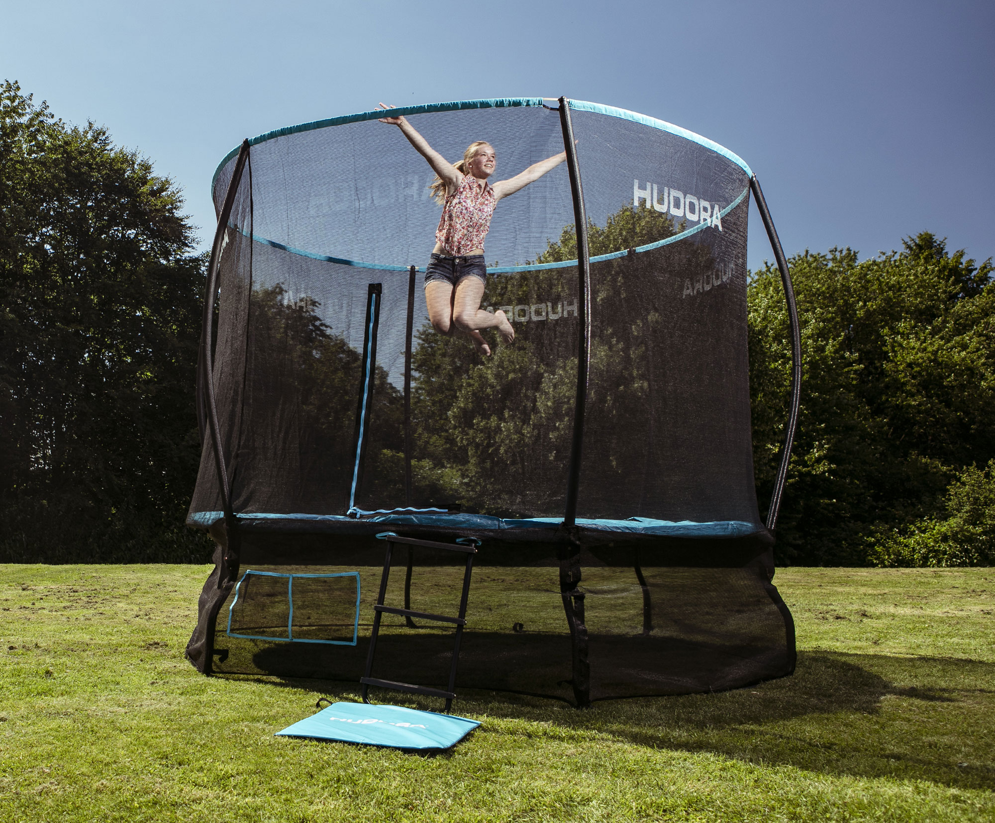 hudora fantastic complete trampolin 300cm bei. Black Bedroom Furniture Sets. Home Design Ideas