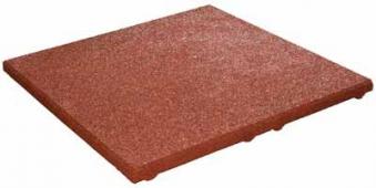 Fallschutzplatte / Elastikplatte 50x50x2,5cm rotbraun