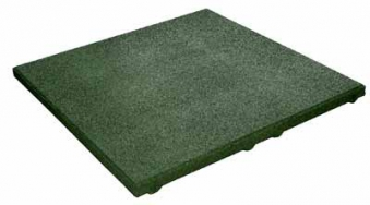 Fallschutzplatte / Elastikplatte 50x50x2,5cm grün