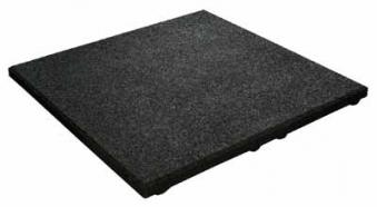 Fallschutzplatte / Elastikplatte 50x50x2,5cm anthrazit