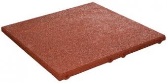 Fallschutzplatte rot nach DIN EN 1177 50x50x3cm