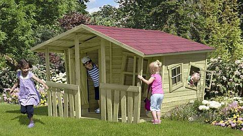 spielhaus kinderspielhaus aus holz u kunststoff bei. Black Bedroom Furniture Sets. Home Design Ideas