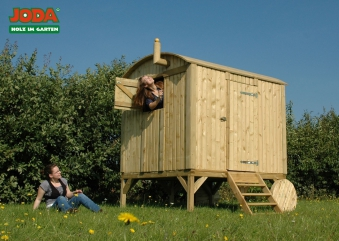spielhaus kinderspielhaus joda bauwagen 180x200x245cm kdi bei. Black Bedroom Furniture Sets. Home Design Ideas